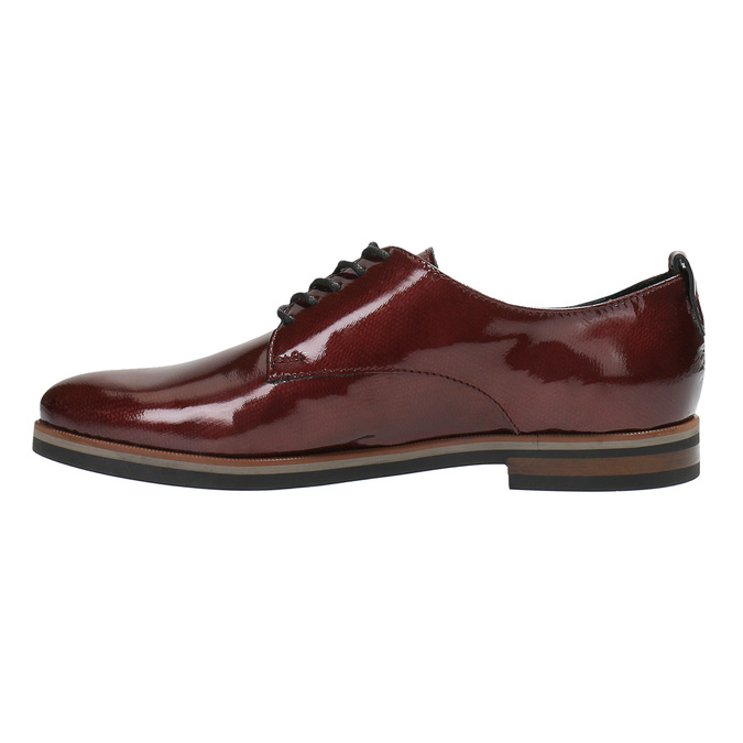 Ladies' Derby shoes bata, red , 528-5600 - 26