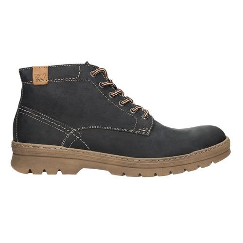 Men's leather winter boots weinbrenner, black , 896-6107 - 26