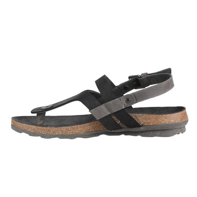 Ladies' leather sandals weinbrenner, black , 566-6101 - 16