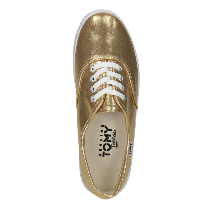 Gold women's sneakers tomy-takkies, gold , 519-8690 - 19