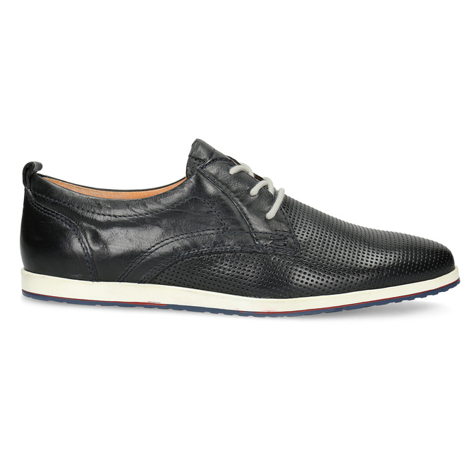 Casual leather low shoes bata, black , 824-9124 - 19