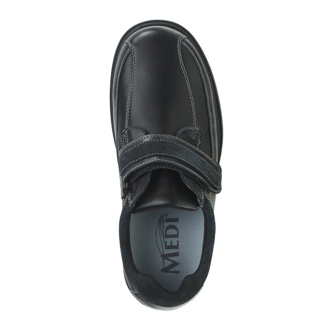 Leather Sneakers, black , 834-6001 - 19