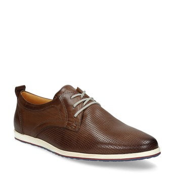 Casual leather sneakers bata, brown , 824-4124 - 13