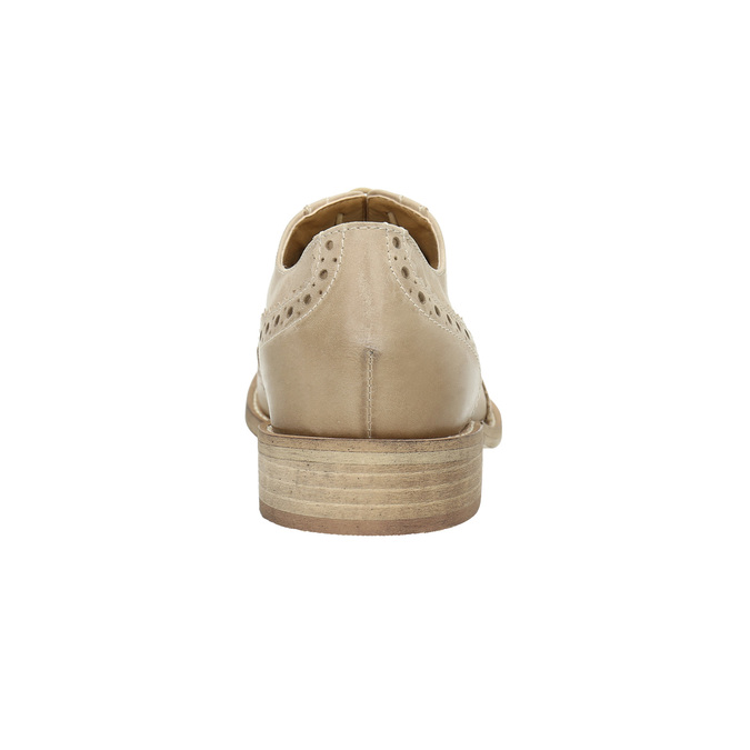 Ladies´ leather shoes with decorations bata, beige , 524-8482 - 17
