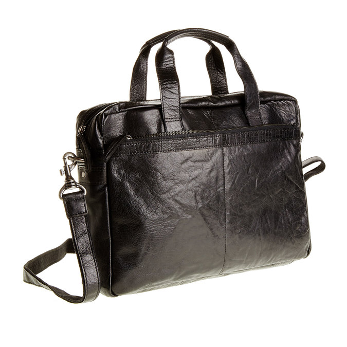 Leather bag bata, black , 964-6153 - 13
