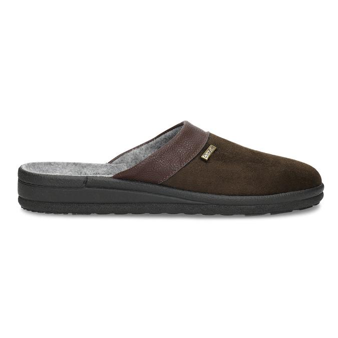 Men's slippers, brown , 879-4600 - 19