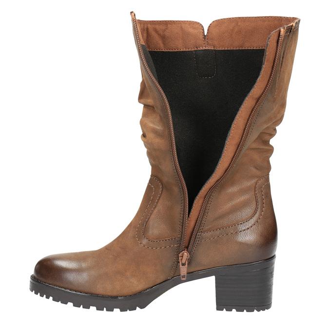 Ladies' ankle shoes bata, brown , 696-3127 - 19