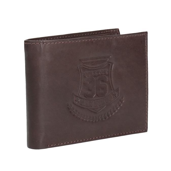 Men's leather wallet bata, brown , 944-4171 - 13