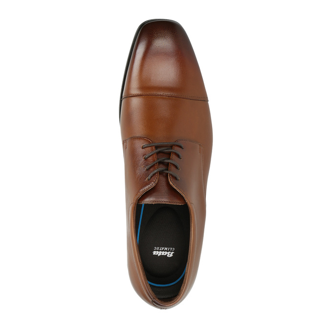 Men´s leather shoes in the Derby style, brown , 826-4736 - 19