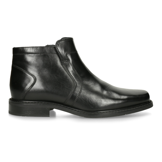 Insulated leather ankle boots, black , 894-6641 - 19