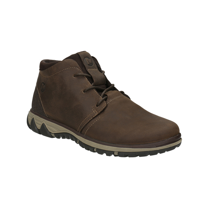 Men's leather ankle boots merrell, brown , 806-4842 - 13