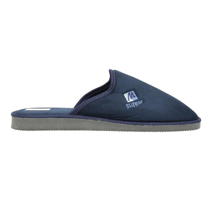 Men's slippers with full toe bata, blue , 879-9605 - 15