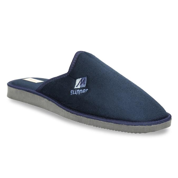 Men's slippers with full toe bata, blue , 879-9605 - 13