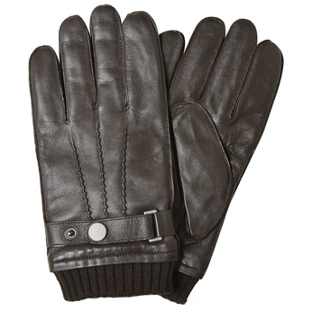 Men's leather gloves, brown , 904-4127 - 13