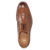 Brown leather Derby-style shoes bata, brown , 826-3812 - 17