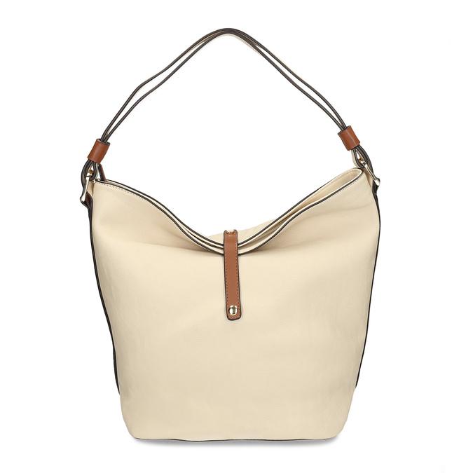 Hobo-style handbag bata, beige , 961-8705 - 26