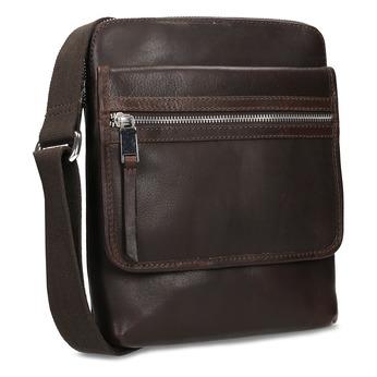 Leather crossbody bag, brown , 964-4237 - 13