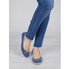 Casual leather ballerinas weinbrenner, blue , 526-9503 - 18