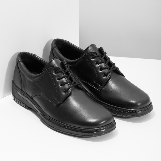 Men's shoes with a distinctive sole pinosos, black , 824-6540 - 26