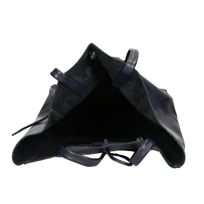 Ladies' leather Shopper handbag bata, blue , 964-9122 - 15