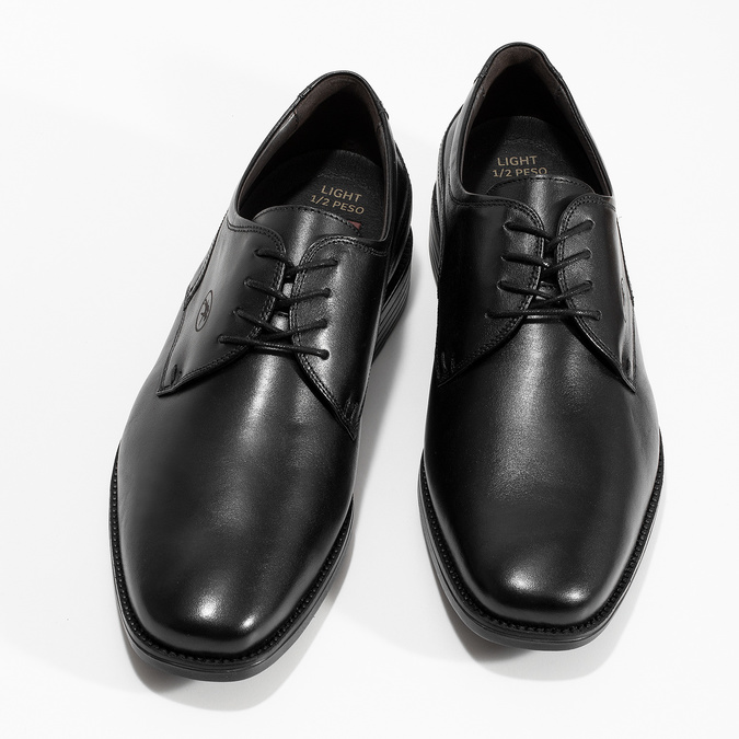 Men's Leather Derby Shoes, black , 824-6440 - 16