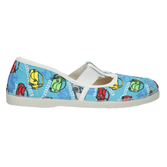Children's Slippers with Cars, blue , 279-9105 - 26