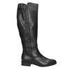 Ladies' Black Leather High Boots, black , 694-6164 - 26