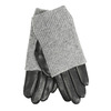 Leather gloves with sweater detail bata, gray , 904-2125 - 13