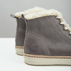 Leather ankle-cut sneakers with fur weinbrenner, gray , 596-2627 - 14
