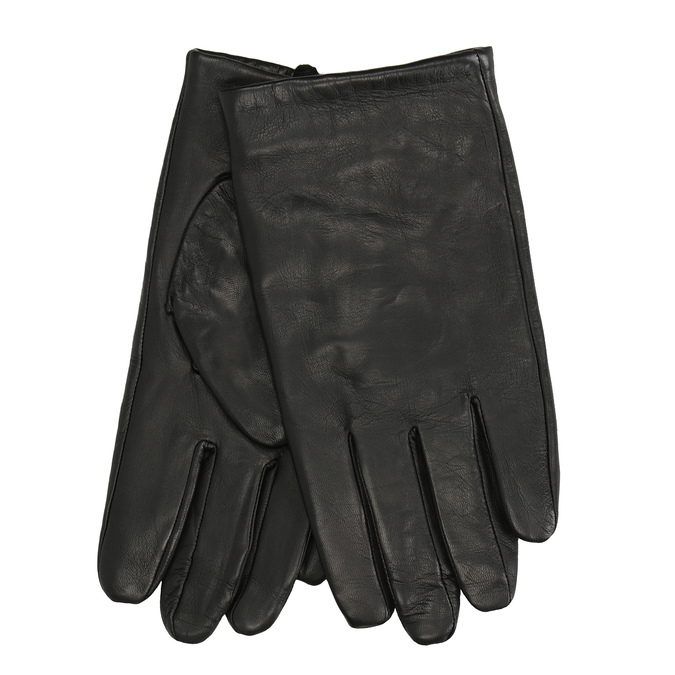 Black leather gloves, black , 904-6130 - 13