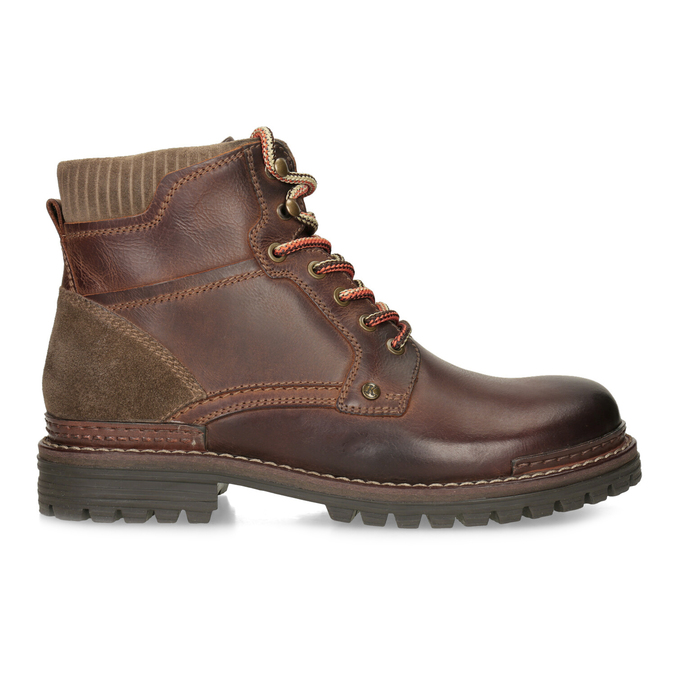 Leather Winter Ankle Boots bata, brown , 896-4661 - 19