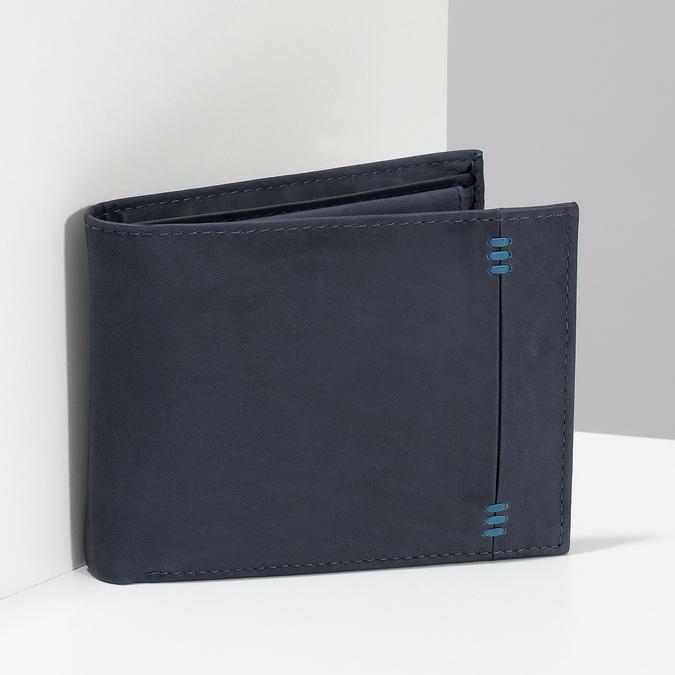 Men's leather wallet, blue , 944-9188 - 17